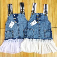 ECER Overall Rok Jeans Tutu Snow Wash Size 8,10,12 Anak Perempuan