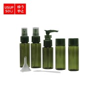 Travel Bottle Set of 6 Green