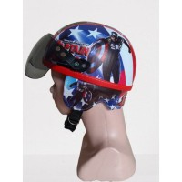 helm printing/retro anak/karakter akapten amerika 2-5 tahun