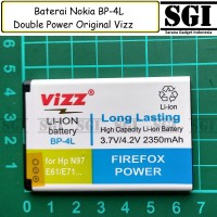Baterai Vizz Original Double Power Nokia BP-4L BP4L E71 E72 E90 N97