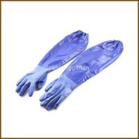 Duramit Sarung Tangan Karet Panjang Nitrile - Biru
