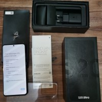 SAMSUNG S20 Ultra 128 gb Black Mulus 99% Fullset Original garansi SEIN