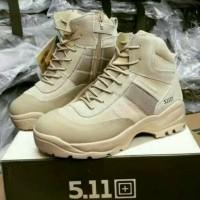 Sepatu Outdoor 511 Tactical Pendek 6 Inch Coklat Gurun Asli Import