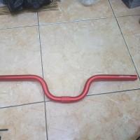 handlebar brompton type M rise 9cm panjang 58cm red anodise