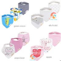 MOM'S CARE 3pcs Baby Bibs - Slabber Segitiga - Celemek Bayi