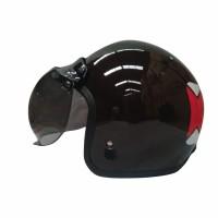 Helm Retro Igloo Domokun Dark Brown L + Visor