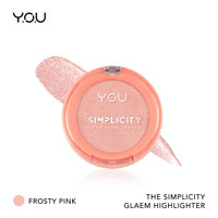 The Simplicity Gleam Highlighter by YOU Makeups - Frosty Pink