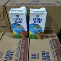 susu Ultra low fat coklat 1000 mili isi 12 PC ekstrak kalsium