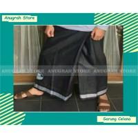 celana sarung dewasa sarung celana sarcel kualitas super - Hitam