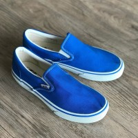 VANS SLIP-ON BLUE Japan Domestic Market - Biru, 5.5