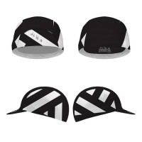 CYCLING CAP BLACK QND WHITE LINE ALL ZISE