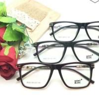 frame kacamata pria mont blanc vintage gratis Lensa antiradiasi