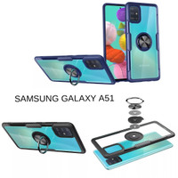 Casing Hardcase Transparan Iring Samsung Galaxy A51 Hard Back Case