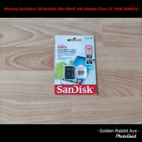 Memory Card Micro SD SanDisk Ultra SDHC Adapter Class 10 16GB (80MB/s)