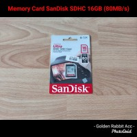 Memory Card SanDisk Ultra SDHC 16GB (80MB/s)