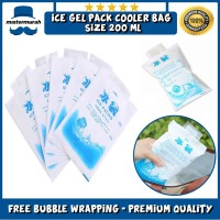 Ice Gel Pack 200 ML Blue Cool Jelly Cooler Kantong Air Es Pendingin