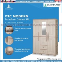 Lemari Pakaian 3 Pintu + Laci Olymplast OTC ST2-3PL Modern