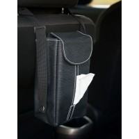 TECHNOZIO Tempat Tissue Gantung Mobil Motif Urat Hitam