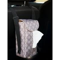 TECHNOZIO Tempat Tissue Gantung Mobil Motif Gucci Mocca