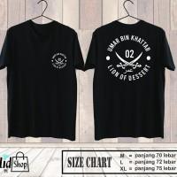 Kaos Umar Bin Khattab Pendek / Kaos Pria Dakwah Tauhid Premium