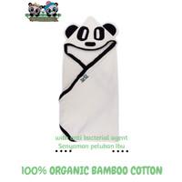 Handuk Selimut Bayi Anti Bakteri 100% Katun Bambu - BIM&BAM PANDA Hood