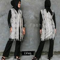 Long vest Tenun jepara outer baju panjang wanita etnik outwear batik