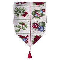 Sale Christmas Table Runner Cotton Printed Tablecloth Home Party