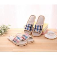 Sandal Rumah Motif STRIPE / Slipper / Sandal Kamar / Sandal Tidur Bulu