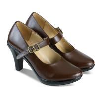 Sepatu Formal Wanita Pantofel Kerja Kantor Kulit High Heels JK20 156