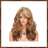 1Pc Wig / Rambut Palsu Wanita Model Panjang Keriting Gelombang Untuk