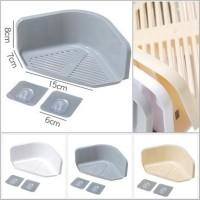 1. Rak Segitiga Tempat Sabun Sudut Toilet Bumbu Dapur Corner Shelf