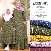 Gamis Couple Ibu dan Anak Sunshine Bhn Fiber - Baju Lebaran Muslim XXL