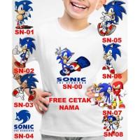Kaos Baju tshirt anak Custom Sonic