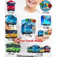 Kaos Baju tshirt anak Custom Tayo