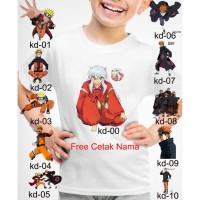 Kaos Baju tshirt anak Custom Naruto dan Baruto
