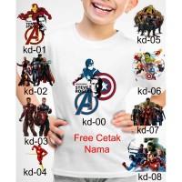 Kaos Baju tshirt anak Custom Avengers endgame