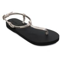 Sandal Wanita Panama Scarlette Black Silver SC02