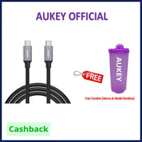 Aukey CB-CD6 Braided Nylon Cable USB Tye C to C Cable 2M USBC CBCD6