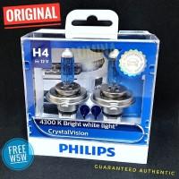 Philips Crystal Vision H4 60/55W - Lampu mobil halogen putih 4300K