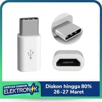Adapter Konverter Micro USB 2.0 Female Data 5 Pin To USB 3.1 Tipe C Ma