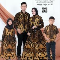 batik couple ayah ibu dan anak kecil hem anak gamis anak