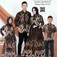 batik couple set keluarga ayah ibu dan hem anak gamis anak
