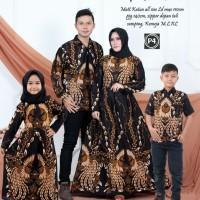 baju batik couple keluarga set ayah ibu dan hem anak gamis anak