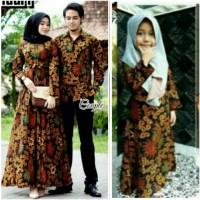 Couple batik Ayah ibu dan anak perempuan baju keluarga batik