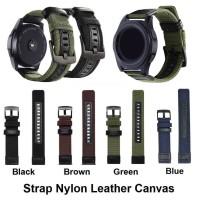 Samsung Gear S2 Classic 20MM 20 MM Tali Jam Strap Nylon Leather Kulit - B 13 - 19 cm, Green