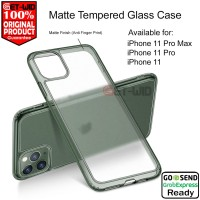 Case iPhone 11 Pro Max - 11 Pro - 11 ESR Matte Tempered Glass Casing - iPhone 11 Pro, Matte Clear