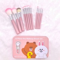 BRUSH SET MISSHA ISI 12 PCS / KUAS MAKE UP / MAKEUP