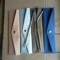 4 in 1 Set Sedotan Stainless dengan Dompet Kulit - Pouch Sedotan Kulit