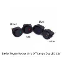 Saklar Toggle Rocker On / Off Lampu Dot LED 12V