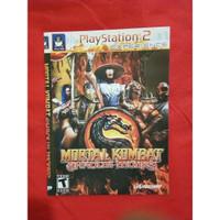 Kaset DVD Game PlayStation 2 Mortal kombat Shaolin monks